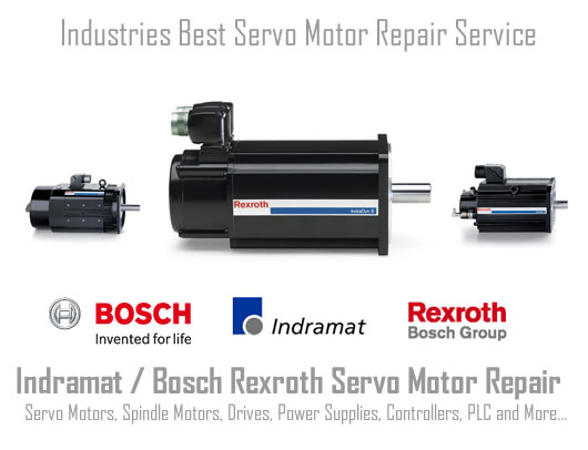 Servo Motor repair service for Indramat Rexroth Bosch in the USA.