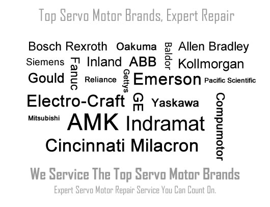 Nationwide servo motor repair service, spindle motor repair, drives and controls repair.